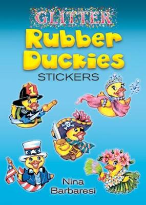 Glitter Rubber Duckies Stickers by Nina Barbaresi