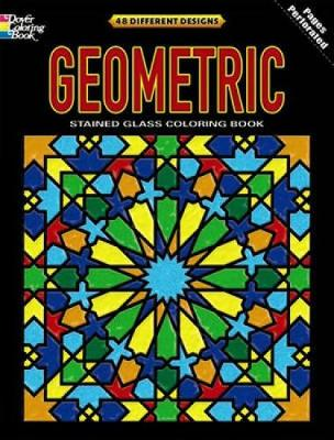 Geometric Stained Glass Coloring Book by Dover
