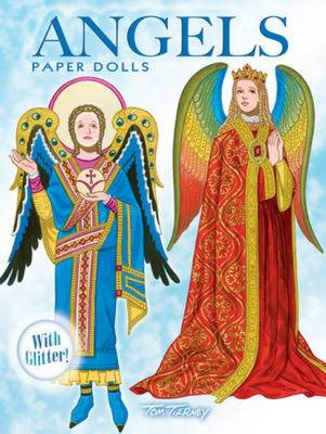 Angels Paper Dolls With Glitter! by Tom Tierney