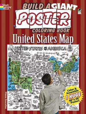 Build a Giant Poster Coloring Book - United States Map by Diana Zourelias