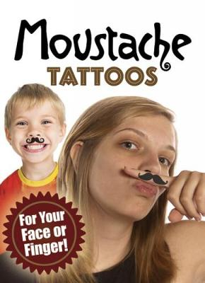 Moustache Tattoos For Your Face or Finger! by Dover, Tattoos