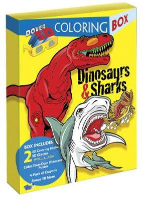 Dinosaurs and Sharks 3-D Coloring Box by