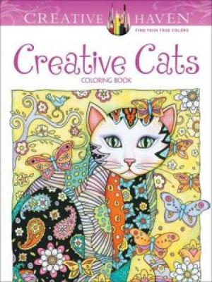 Creative Haven Creative Cats Coloring Book by Marjorie Sarnat