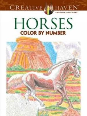 Creative Haven Horses Color by Number Coloring Book by George Toufexis