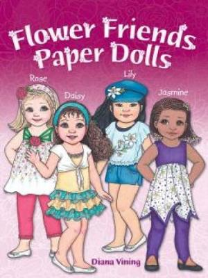Flower Friends Paper Dolls by Diana Vining