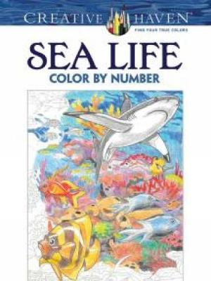 Creative Haven Sea Life Color by Number Coloring Book by George Toufexis
