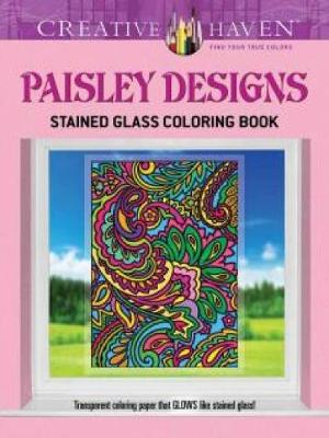 Creative Haven Paisley Designs Stained Glass Coloring Book by Marty Noble