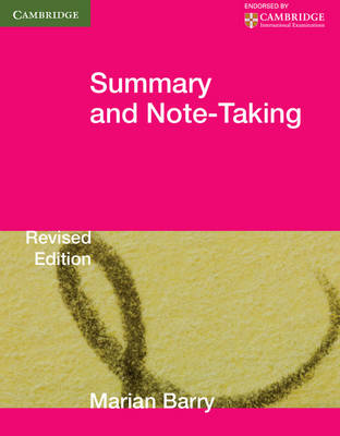 Summary and Note-Taking by Marian Barry