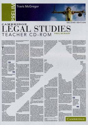 Cambridge Preliminary Legal Studies Second Edition Teacher CD-Rom by Travis McGregor