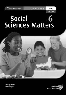 Social Science Matters Grade 6 Teachers Guide Gr 6: Teacher's Guide by Susan Heese, Cathy Paquet