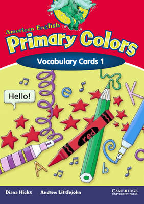 American English Primary Colors 1 Vocabulary Cards by Diana Hicks, Andrew Littlejohn
