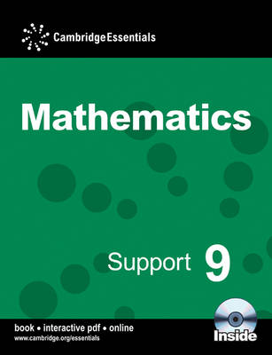 Cambridge Essentials Mathematics Support 9 Pupil's Book and CD-ROM by Susan Timperley, Steven Ellis, Paul Rigby, Julie Bolter