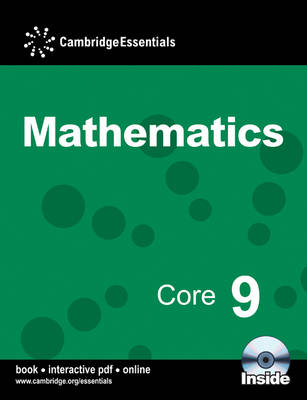 Cambridge Essentials Mathematics Core 9 Pupil's Book with CD-ROM by Paul Rigby, Julia Fletcher, Julie Bolter, Peter Sherran