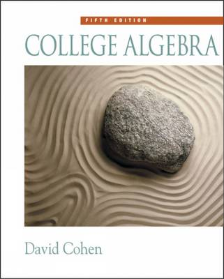 College Algebra by David Cohen