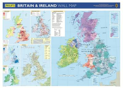 Philip's Britain and Ireland Wall Map by