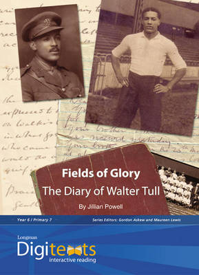 Digitexts: Fields of Glory: The Diary of Walter Tull Teacher's Book and CD-ROM by Maureen Lewis, Jillian Powell, Bernice Barry