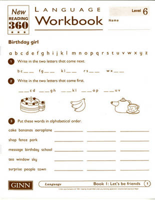 Reading 360 Language Resource Workbook 6 pack of 8 by