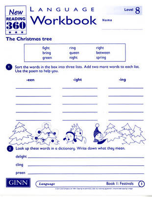 Reading 360 Language Resource Workbook 8 Pack of 8 by