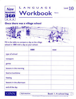 Reading 360 Language Resource Workbook 10 Pack of 8 by