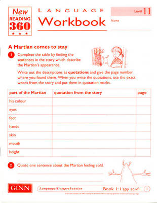 Reading 360 Language Resource Workbook 11 Pack of 8 by