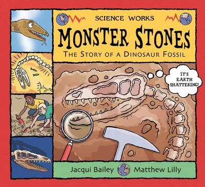 Monster Stones The Story of a Dinosaur Fossil by Jacqui Bailey