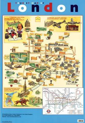 Tourist Map of London by Schofield & Sims