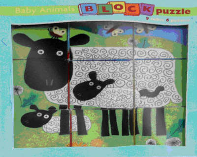 Baby Animal Block Puzzle by Clare Beaton