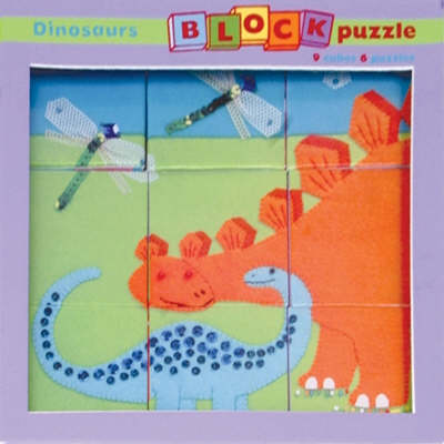 Mudpuppy Dinosaur Block Puzzle by Clare Beaton