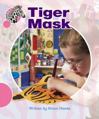 Spotty Zebra Pink A Ourselves - Tiger Mask by Alison Hawes