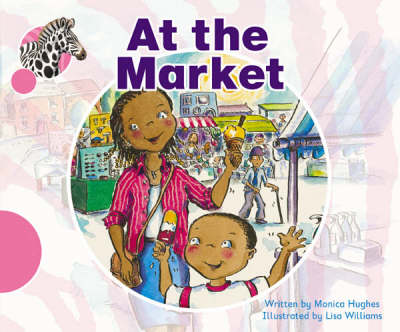 Spotty Zebra Pink A Ourselves - At the Market by Monica Hughes