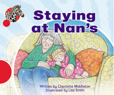 Spotty Zebra Red Ourselves - Staying at Nan's (x6) by Charlotte Middleton