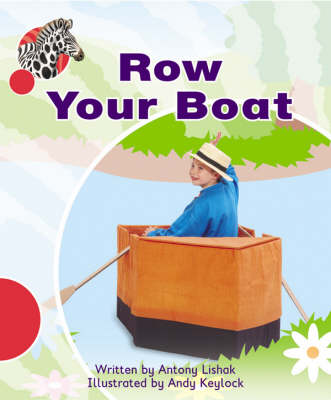 Spotty Zebra Red Ourselves Row Your Boat (X6) by Antony Lishak