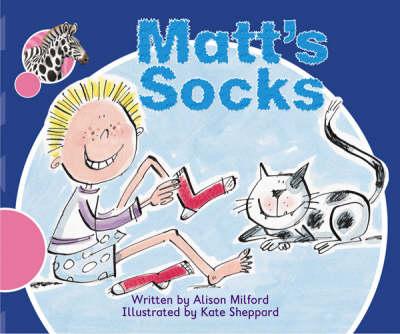 Spotty Zebra Pink A Change - Matt's Socks by Alison Milford