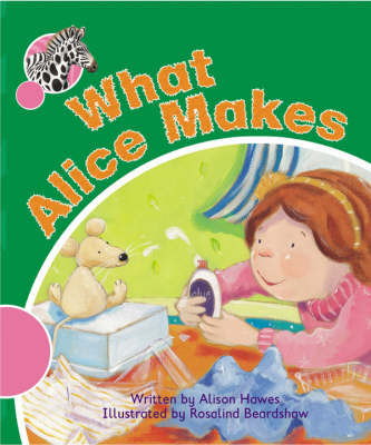 Spotty Zebra Pink A Change - What Alice Makes by Alison Hawes