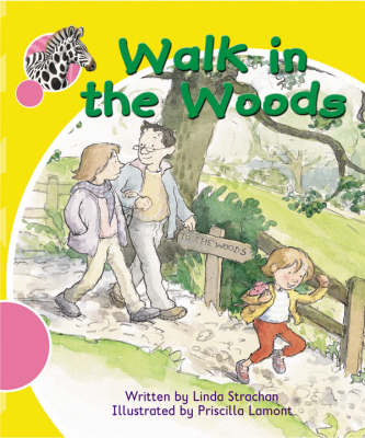 Spotty Zebra Pink A Change - A Walk in the Woods by Linda Strachan