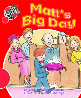 Spotty Zebra Red Change Matt's Big Day by Antony Lishak