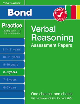 Bond Second Papers in Verbal Reasoning 8-9 Years by J. M. Bond