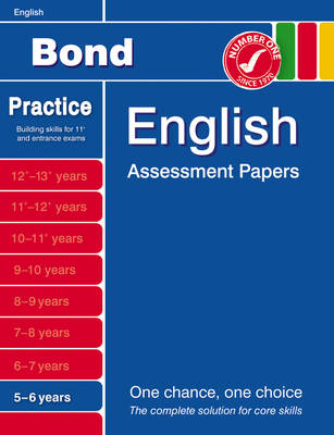 Bond Introductory Papers in English 5-6 Years by Sarah Lindsay
