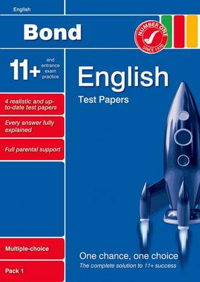 Bond 11+ Test Papers English Multiple-Choice Pack 1 by Sarah Lindsay