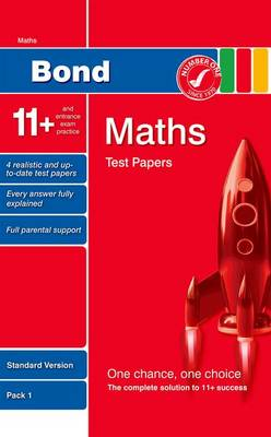 Bond 11+ Test Papers Maths Standard Pack 1 by Andrew Baines