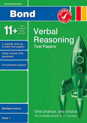 Bond 11+ Test Papers Verbal Reasoning Multiple Choice Pack 1 by Frances Down