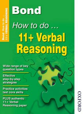 Bond How to Do 11+ Verbal Reasoning by Alison Primrose