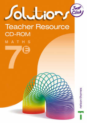 Solutions Teacher Resource File CD-Rom Extension Book 7 by Maureen Hayes, David Baker, Paul Hogan, J.G. Macphail