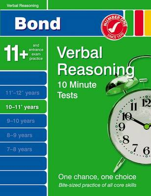 Bond 10 Minute Tests 10-11 Years Verbal Reasoning by Frances Down