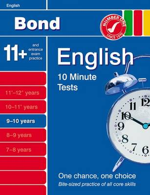 Bond 10 Minute Tests English 9-10 Years by Sarah Lindsay