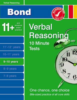 Bond 10 Minute Tests Verbal Reasoning 9-10 Years by Frances Down