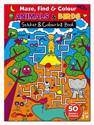 Maze Find and Colour Book - Animals & Birds by