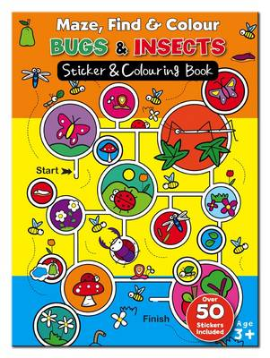 Maze Find and Colour Book - Bugs & Insects by
