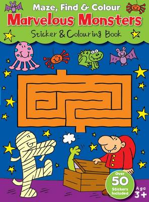 Maze Find and Colour Book - Marvelous Monsters by