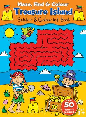 Maze Find and Colour Book - Treasure Island by